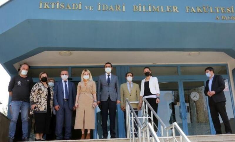 Rektör Özkan, MYO ve İİBF'yi ziyaret etti