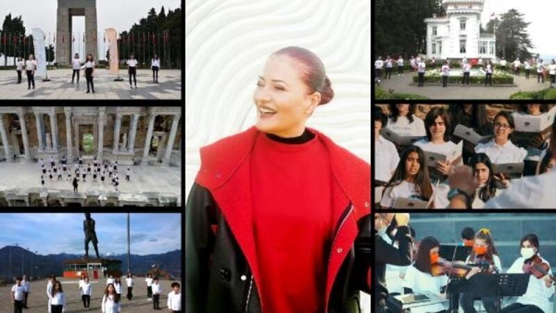 Çocuk koroları, Candan Erçetin'le 23 Nisan şarkısı söyledi