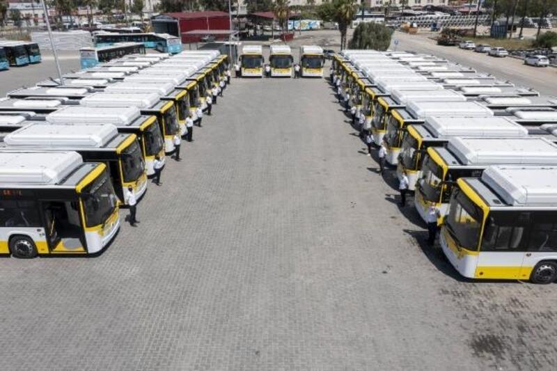 'Sarı Limon' adı verilen otobüsler, Mersinlilerle buluşuyor
