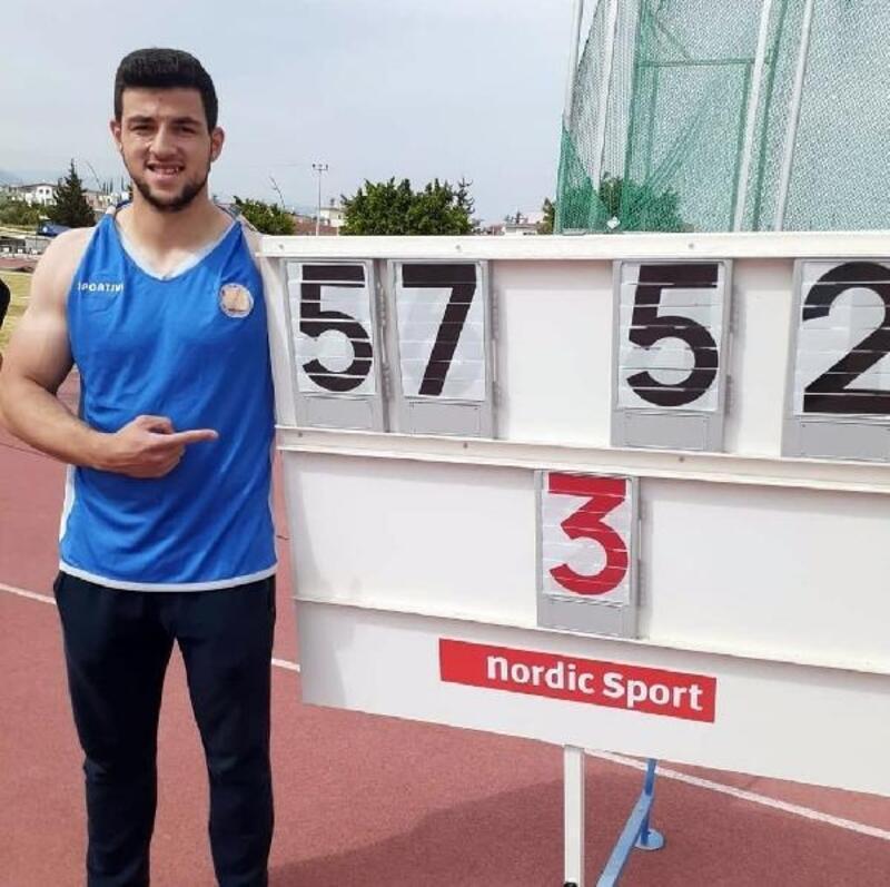 Osmangazili atletten rekor