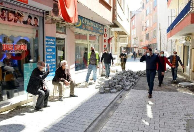 Süleymanpaşa Belediyesi, Gülbahar Sokak'ı iki günde yeniledi
