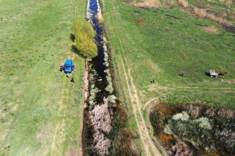 Kaçak avcı drone ile yakalandı