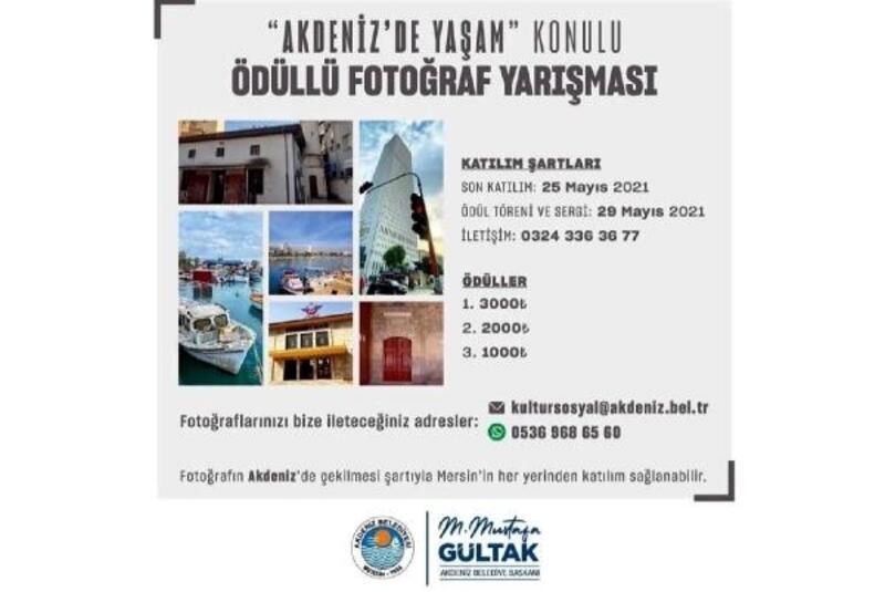 Akdeniz Belediyesi'nden ödüllü fotoğraf yarışması