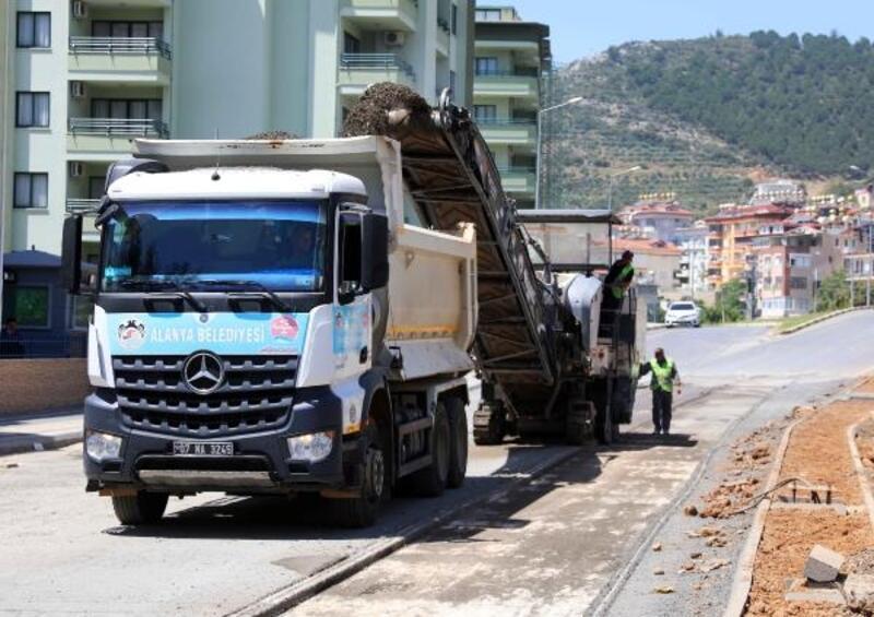 Yeni prestij caddesinde asfalt hazırlıkları