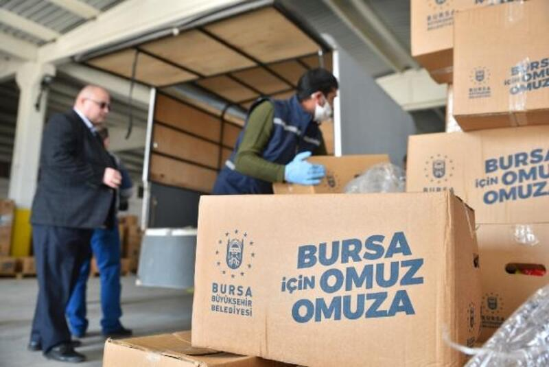 Bursa Büyükşehir Belediyesi'nden 100 bin aileye tam kapanma destek paketi