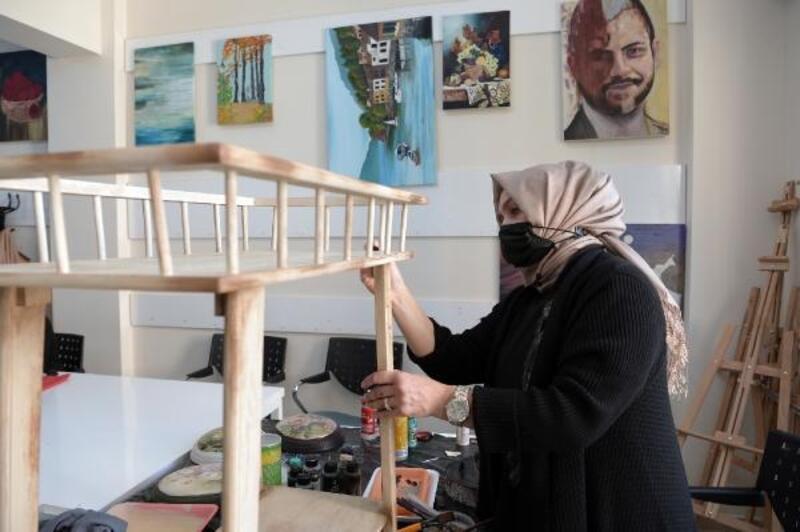 OSMEK'te eski eşyalar sanata dönüşüyor
