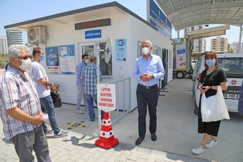 Mezitli'de araç muayene istasyonu tam kapanma sürecinde de açık olacak