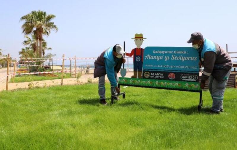 Oba ve Tosmur sahil bandında peyzaj düzenlemesi