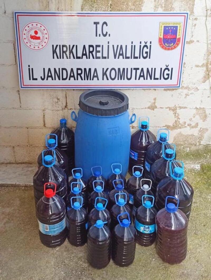Kırklareli'de 550 litre sahte içki ele geçirildi