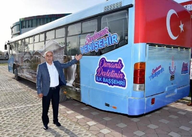 Yenişehir'de bu otobüs, vatandaşlara ücretsiz hizmet verecek