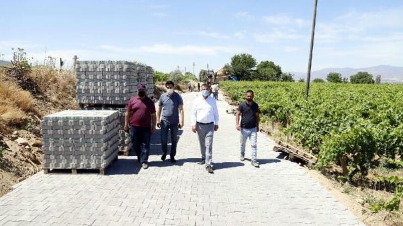 Alaşehir'de 130 bin metrekare kilit parke taşı döşeyecek