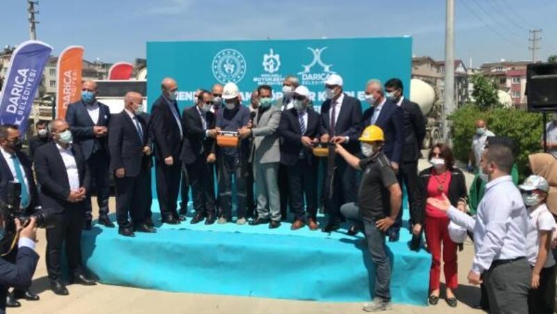 Darıca'da spor kompleksinin temeli atıldı