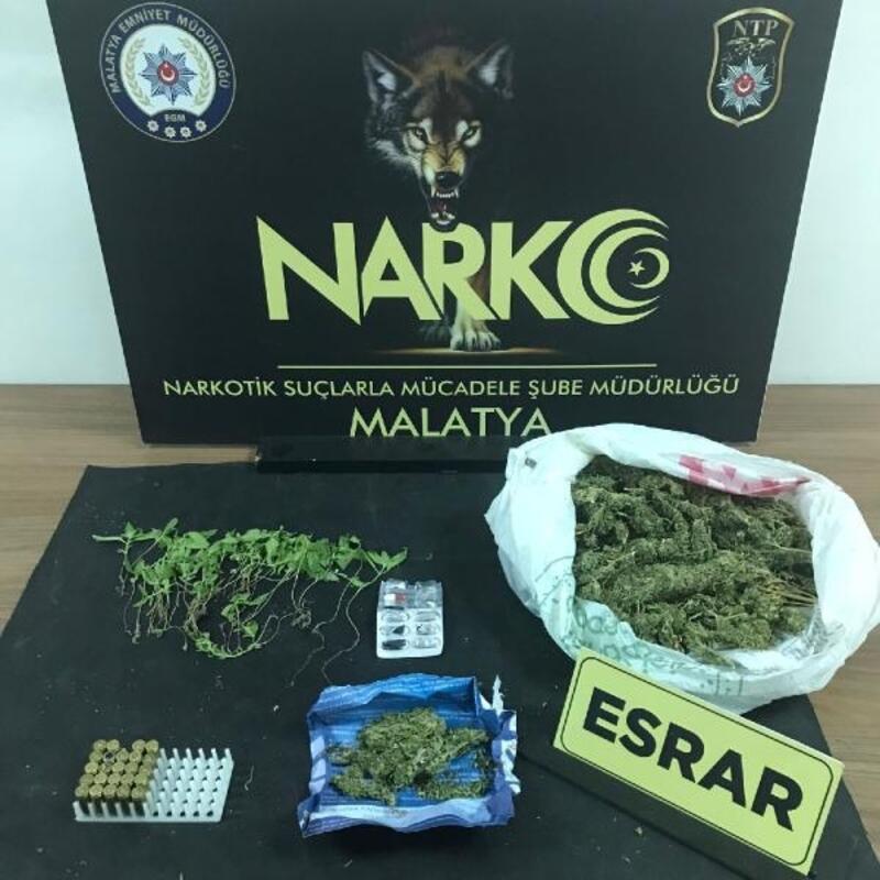 Malatya'da uyuşturucu ticaretine 3 tutuklama