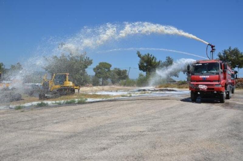 Müdahale ekiplerine yangın tatbikatı