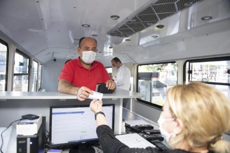 Silifke'ye mobil hizmet aracı
