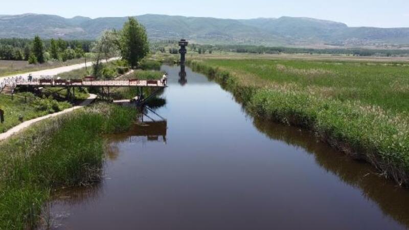 Kuş cenneti Kaz Gölü, en sakin günlerini yaşıyor
