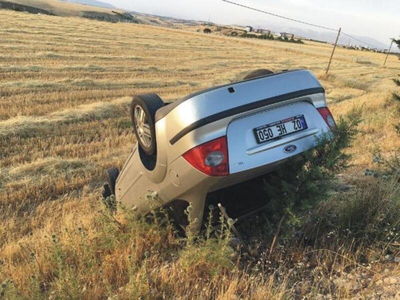 Adıyaman'da takla atan otomobilin sürücüsü yaralandı