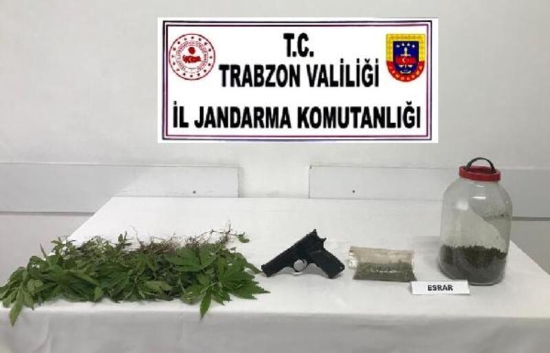 Trabzon'da jandarmadan uyuşturucu baskını: 1 gözaltı