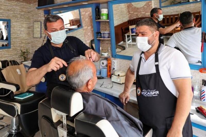 Başkan Kocaispir'den kuaförlere destek