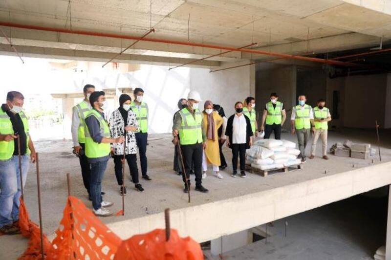 Yeni belediye hizmet binası inşaatında çalışmalar hızlandı