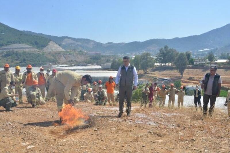 Mersin'de ateş savaşçıları sezona hazır