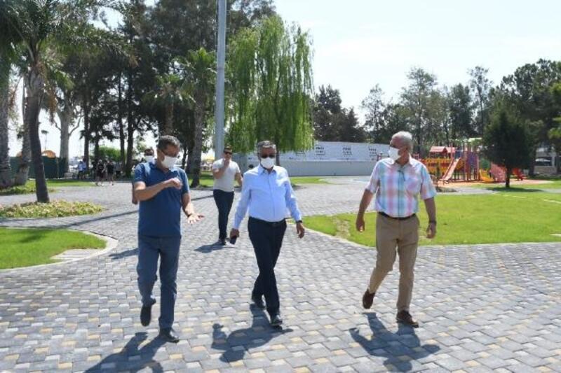 Başkan Topaloğlu, Mustafa Ertuğrul Aker Parkı'nı inceledi