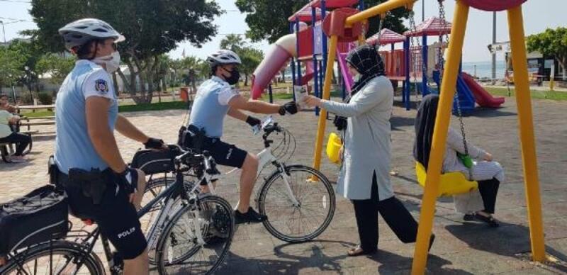 İskenderun'da bisikletli 'martı' polisler göreve başladı