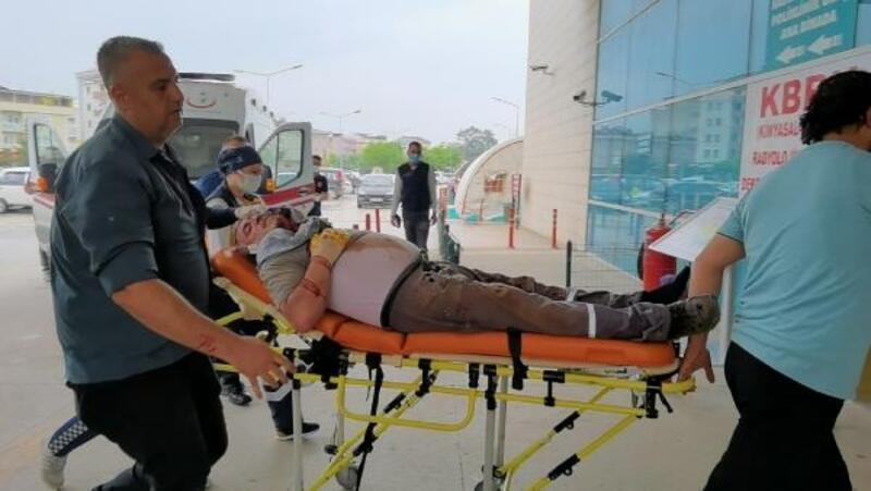 Makineye başını çarpan işçi, ağır yaralandı