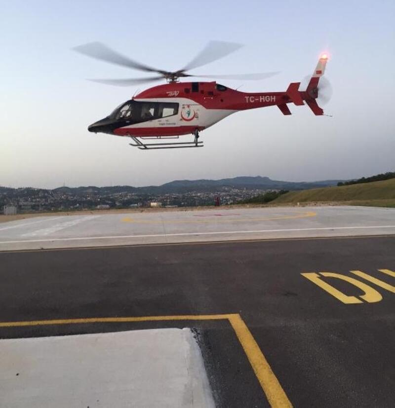 Bursa'da ambulans helikopter, hastaların hizmetinde