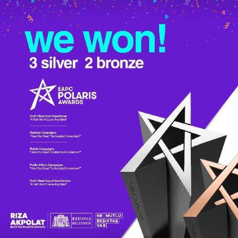 Beşiktaş Belediyesi, Polaris Awards'tan 5 ödül aldı