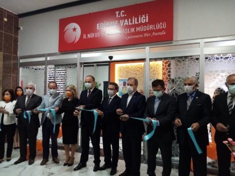 Edirne'de nüfus müdürlükleri, yeni konsepte geçti