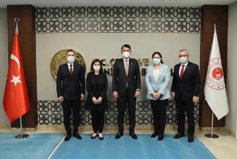 AK Parti'li Aksal ve beraberindeki heyetten, Bakan Kurum'a ziyaret