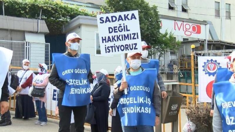 Bursa'da otomobil yan sanayiine üretimi yapan fabrikada grev