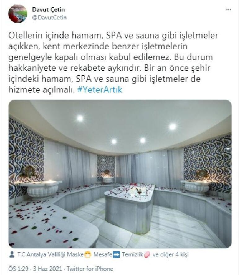 ATSO Başkanı Çetin'den kapanma tepkisi: Otellerde açık, şehirde kapalı