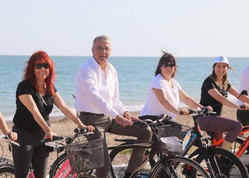 Başkan Tarhan, bisiklet farkındalığına dikkat çekti