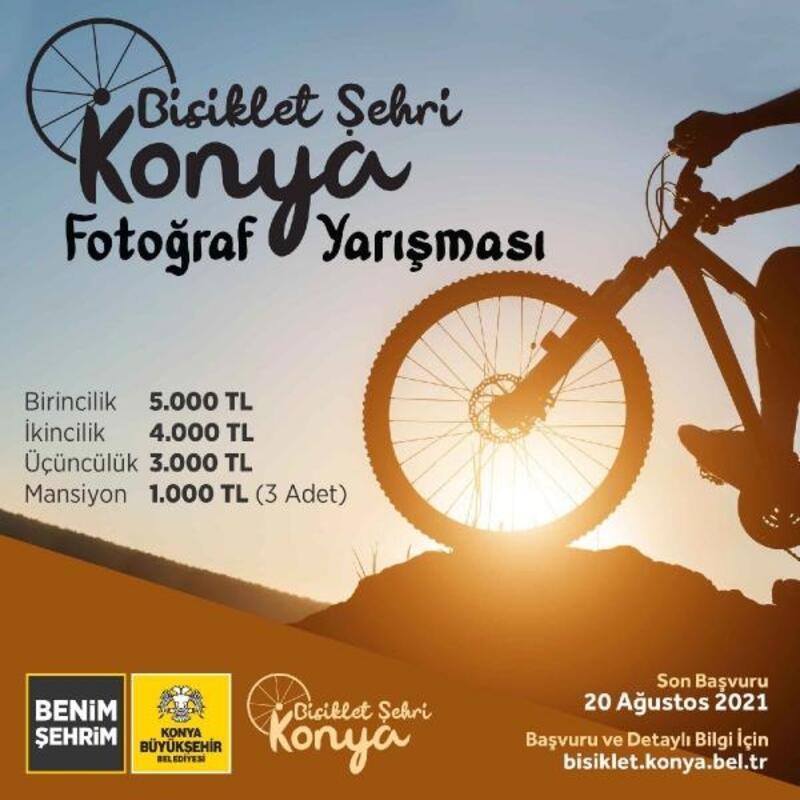 """""""Bisiklet şehri Konya"""" temalı fotoğraf yarışması başlıyor"""