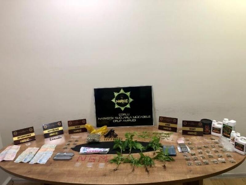 Tekirdağ'daki uyuşturucu operasyonunda 2 gözaltı