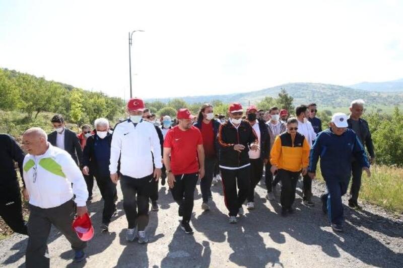 Dünya Çevre Günü'nde Ali Dağı'na yürüyüş etkinliği
