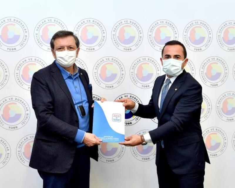 MATSO yönetimi, Başkan Hisarcıklıoğlu'na dosya sundu