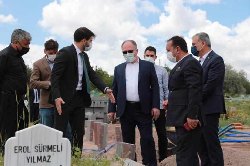 Başkan Bilgin mezarlık çalışmalarını inceledi