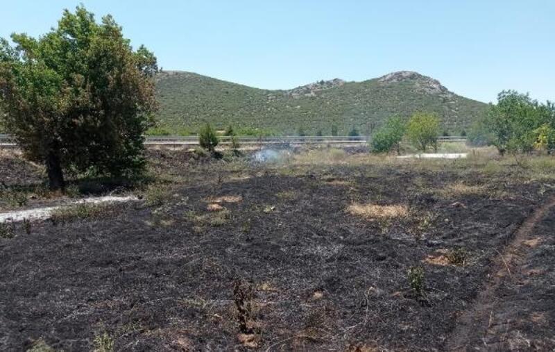 Eğirdir'de bahçe yangını