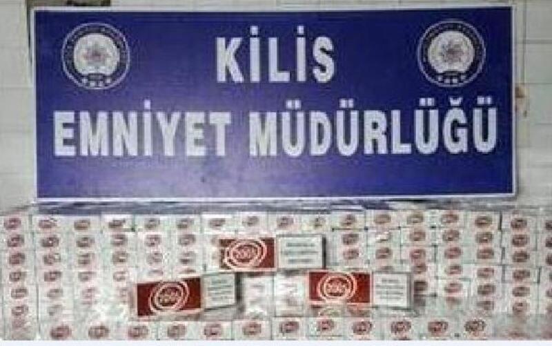 Kilis'te, 510 paket kaçak sigara ele geçirildi