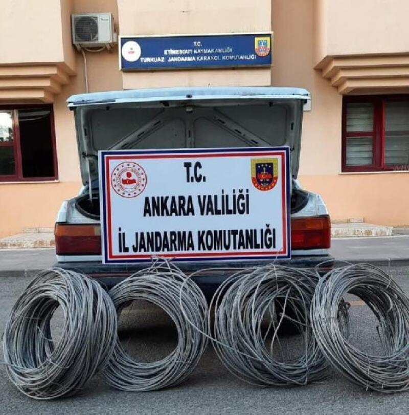 Ankara'da kablo hırsızlığına gözaltı
