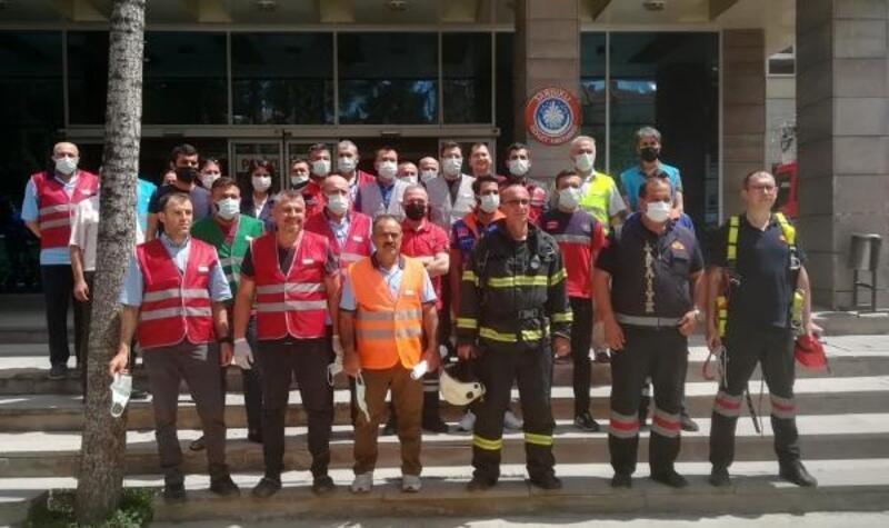 Sandıklı Devlet Hastanesi'nde yangın tatbikatı
