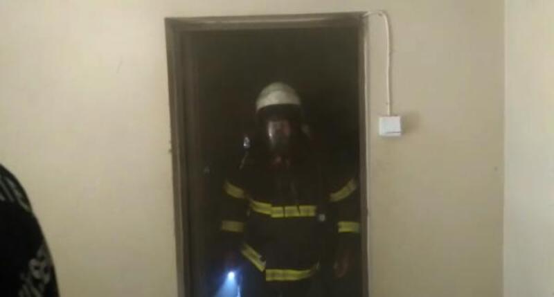 İslahiye'de, ev yangını