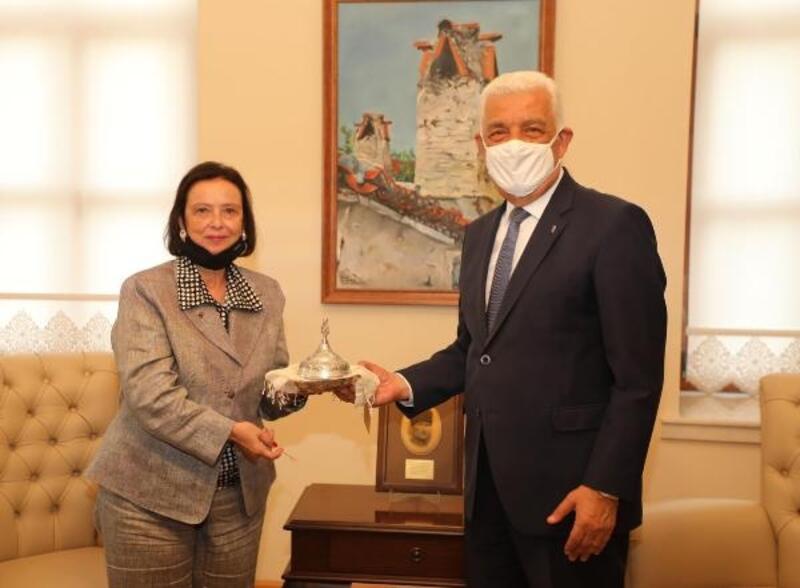 Türkiye'nin İlk kadın Valisi Aytaman, Başkan Gürün'ü ziyaret etti