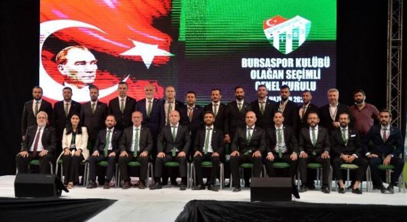 Bursaspor Kulübü'nde görev dağılımı yapıldı