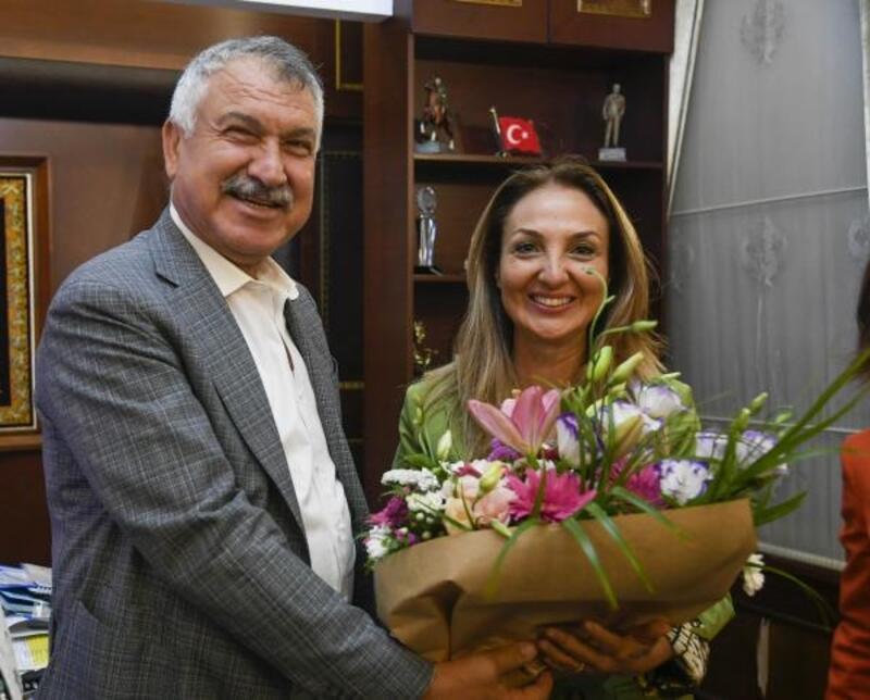 CHP Kadın Kolları Genel Başkanı Aylin Nazlıaka'danBaşkan Karalar'aziyaret