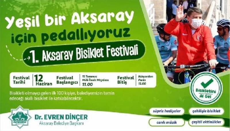 Aksaray'da bisiklet festivali düzenleniyor