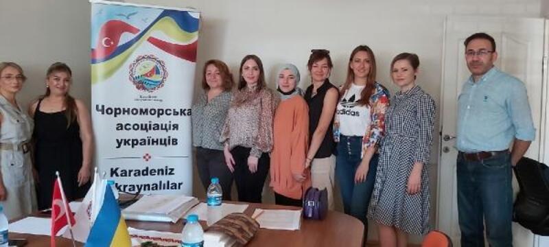 Karadeniz Ukraynalılar Derneği'nde Shymko, güven tazeledi